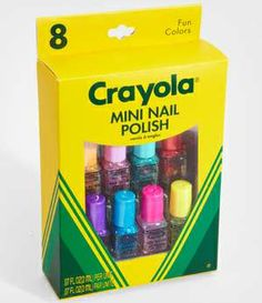 crayola nail polish-- I know some girls who would love it!
