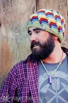 Offshore Beanie - pattern by Liz McQueen-E-Book adult sizes.