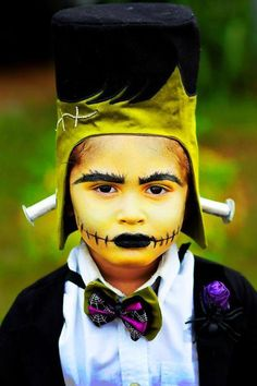 Awesome Frankenstein costume!! Holy Monster'mony Halloween Party with SUCH CUTE IDEAS via Kara's Party Ideas | KarasPartyIdeas.com #MonsterBash #MonsterWedding #Party #Ideas #Supplies