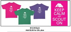 T-shirts for sale! Fundraiser for Senior Girl Scout going to Europe in 2014.  Email keepcalmscouton@gmail.com to order.