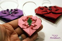 You have my heart � DIY Origami Hearts � attach them to anything