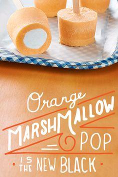 Orange Marshmallow Pop is the new black.