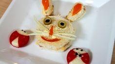 Sandwiches con decoracion, divertidos para niños y fiestas, via YouTube.