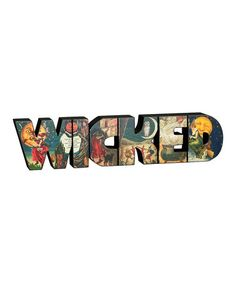 http://www.zulily.com/invite/Misserie Vintage Halloween 'Wicked' Word Block by Primitives by Kathy on #zulily today!