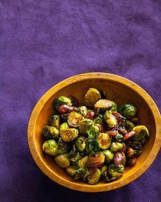 Roasted Brussels Sprouts and Grapes   The balsamic vinegar was a little too much for me, but still tasty. Husband loved this. Grapes add the perfect bit of sweetness.