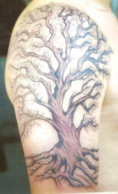Big Tree Tattoo Sleeve