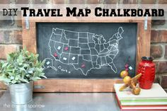 DIY Travel Map Chalk
