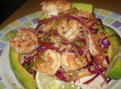 Mexican Shrimp Tostadas (Tostadas de Camaron)