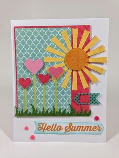 Cricut Artbooking Hello Summer Card