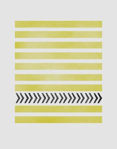 STRIPES AND ARROWS Art Print