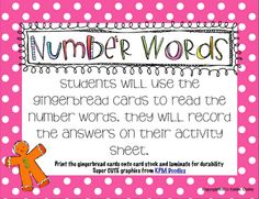 Number Words Game