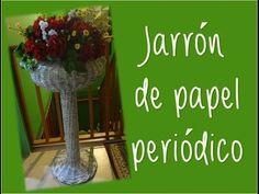 Jarrón de papel periódico