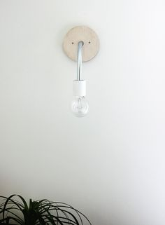 DIY HANGING WALL LIGHT
