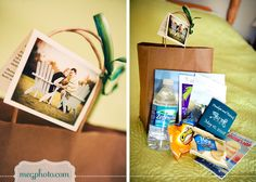 #wedding #out of town bag #welcome bag basket #favor