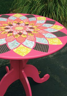 Paint and decoupage table...this one was for a girl's room.