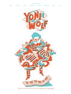 Yoni Wolf tour poster