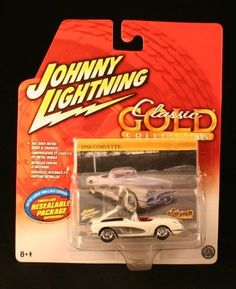 1958 CORVETTE * WHITE * Johnny Lightning 2006 CLASSIC GOLD COLLECTION 1:64 Scale Die-Cast Vehicle by Playing Mantis. $14.99. Vehicle measures approximately 3 inches long. Die Cast Body & Chassis.. Ages 8 and up. From Playing Mantis.. 1958 CORVETTE * WHITE * Johnny Lightning 2006 CLASSIC GOLD COLLECTION 1:64 Scale Die-Cast Vehicle. Detailed Engine and Interior - Specially designed for the adult collector!. Originally released in 2006 - Out of Production / Retired. JOHNNY LIGHTNI...