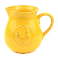 Any guest will crow with delight when they see your new Ceramic Rooster Pitcher. The bright yellow color and embossed rooster detail will make this pitcher stand out! #kirklands #CountryLivin