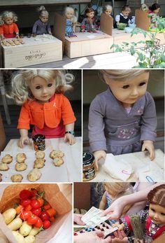 American Girl Doll Farmer's Market - so cute!!