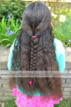 cute natural hairstyle for little girls