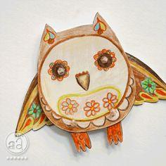 Dancing Owl #DIY #project #owl #dancing #paper #craft