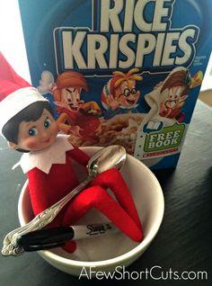 Elf on the Shelf Ideas: Snap Crackle & Pop