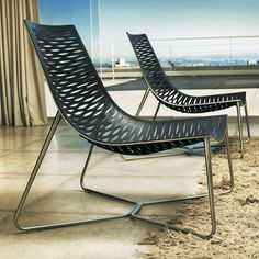 York Lounge Chair // Black Leather  By Ted Toledano