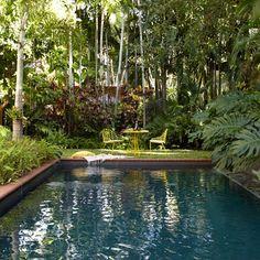 Hidden backyard swimming pool
