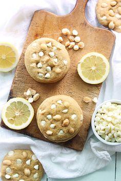 Lemon White Chocolate Chip Macadamia Nut Cookies