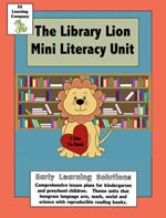 """This is a mini-theme that is based on the book """"Library Lion"""".  It is meant to be used the first weeks of Pre-Kindergarten"""