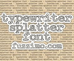 free fonts & images from fuzzimo.com