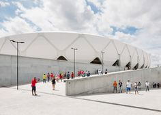 England's nail-biting World Cup football match against Italy on Saturday took place inside this basket-inspired stadium.