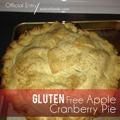 Gluten Free Apple Cranberry Pie Recipe . Perfect for the holidays & includes an easy DIY Recipe for Gluten Free Flour Mix!