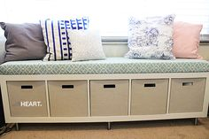 DIY WINDOW SEAT: easy step by step instructions to make this inexpensive window seat bench   withHEART