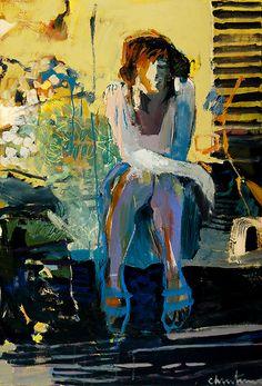 linda christensen, 'Steps', Oil 44 x 30