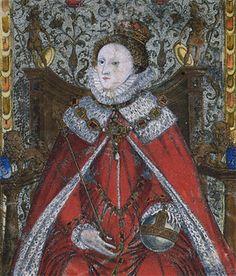 1581: Detail of Coram Rege Roll of Elizabeth I for the Court of King's Bench (KB 27/1276/2) rege roll, seal activ, king bench, court