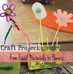 Help your child use found materials to #craft a mini flower garden! Our #LearningToolkit blog has the details.