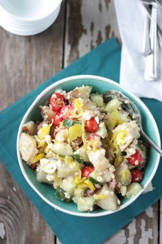 Greek Potato Salad   Crumbs and Chaos