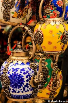 teapot, tea time, dragons, tea pot, fish, colors, art, bohemian, china