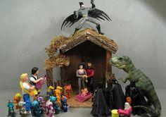 a modern manger scene.