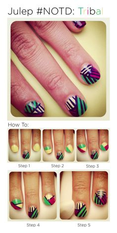 How to: Tribal nails.
