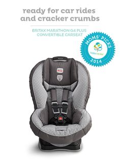 For the road: the Britax Marathon convertible car seat, a BabyCenter Top Pick.