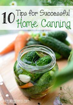 10 Tips for Successful Home Canning #garden #canning #homesteading http://www.stockpilingmoms.com/2014/08/10-tips-for-successful-home-canning/?utm_campaign=coschedule&utm_source=pinterest&utm_medium=Stockpiling%20Moms%20(Coupons%20and%20Saving%20Money)&utm_content=10%20Tips%20for%20Successful%20Home%20Canning