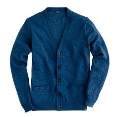 J.Crew Cotton-Cashmere Cardigan in Navy