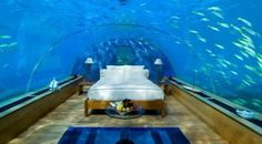 Underwater hotel rooms