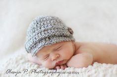 Newborn Visor hat / Newsboy hat $25