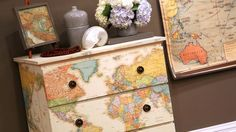 Creative Uses for Old Maps dresser