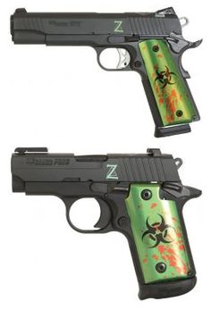 Sig Sauer 1911 and P238 Zombie Edition   The Firearm Blog