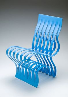 Blue Current Chair by Vivian Beer