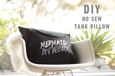 DIY tank pillow. http://blog.swell.com/DIY-Tank-Pillow